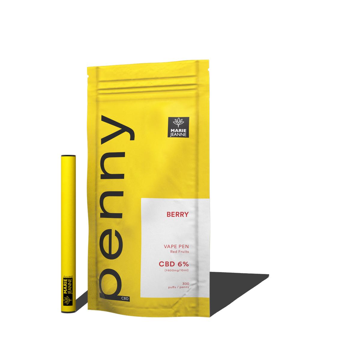 CBD Pen jetable E-Liq. Penny Berry 6%